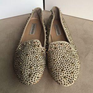 Steve Madden Gold Studded Flats 🧡🖤🧡 Size 7